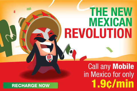 Call any Mobile in MEXICO for only 1.9¢/min