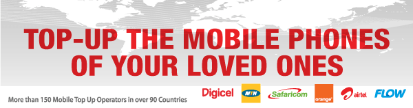 International Mobile Top Up: More than 150 Mobile Top Up Operators in Over 90 Countries