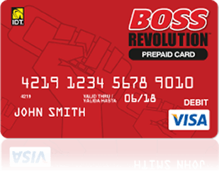 Upgrade to a Personalized Reloadable Boss RevolutionSM Prepaid Visa® Card